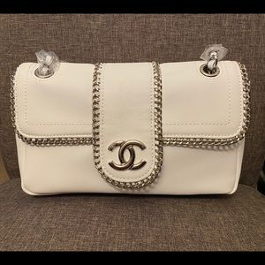 Chanel Chain Around Chain white shoulder bag